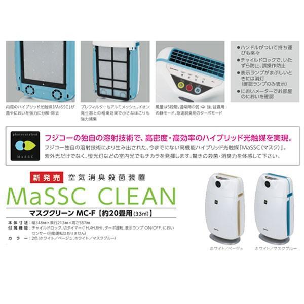 マスクフジコー マスククリーン/MC-F ホワイト×マスクブルー/W348×D213×H557mm