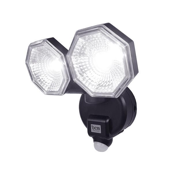 DCM LEDセンサーライト2灯式/E-BL200 乾電池式 2灯式