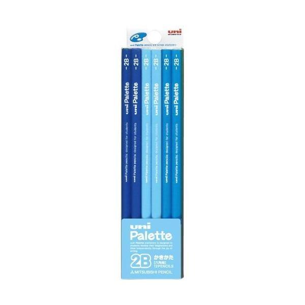 三菱鉛筆 かきかた鉛筆 ユニパレット 2B/K55602B パステルブルー