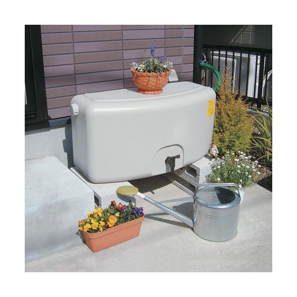タキロン 雨水貯留タンク 雨音くん/タンク容量:80リットル 本体:みかげ色 集水継手:黒色/タンク容量:80L