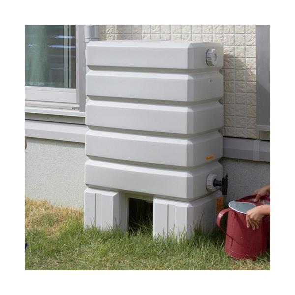 タキロン 雨水貯留タンク アメマルシェ/タンク容量:120リットル 本体:みかげ色 集水継手:白色/タンク容量:120L