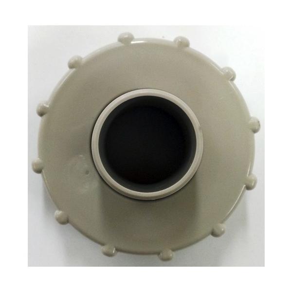 タキロン 雨水貯留タンク部品 キャップ 穴開き・ホース側/120?150リットル対応 みかげ色