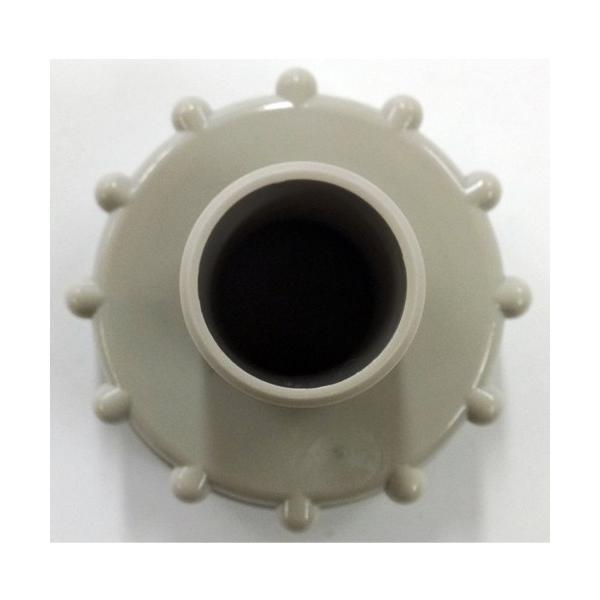 タキロン 雨水貯留タンク部品 キャップ 穴開き・ホース側/80リットル専用 みかげ色