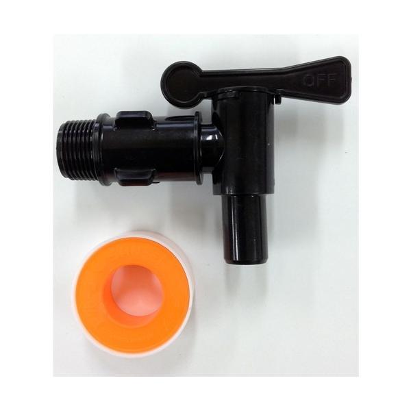 タキロン 雨水貯留タンク部品 水栓プラスチック蛇口 黒/80?150リットル対応 黒色