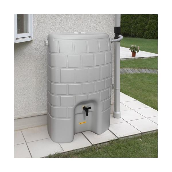 タキロン 雨水貯留タンク 雨音くん/タンク容量:150リットル 本体:みかげ色 集水継手:黒色/タンク容量:150L