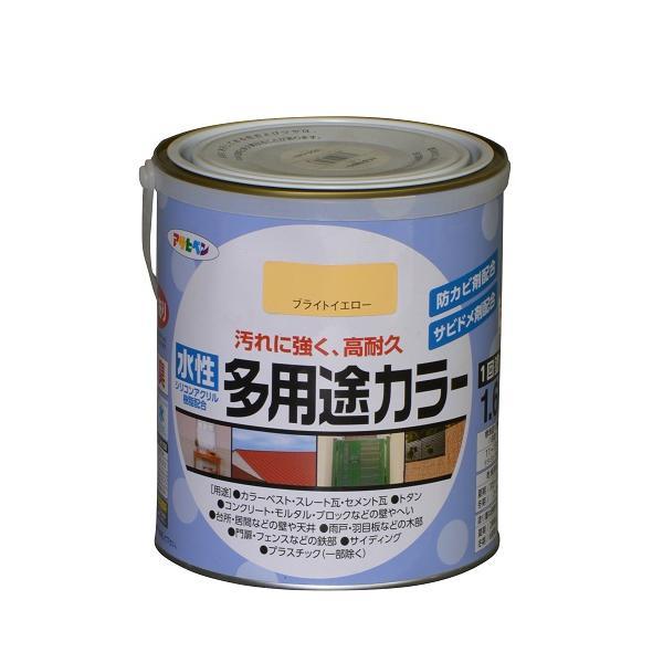 アサヒペン 水性多用途カラー/1.6L ブライトイエロー ブライトイエロー