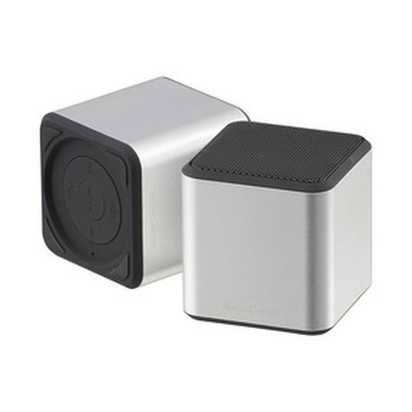 AudioComm ワイヤレスキュービックスピーカー シルバー/ASP-W400N-S