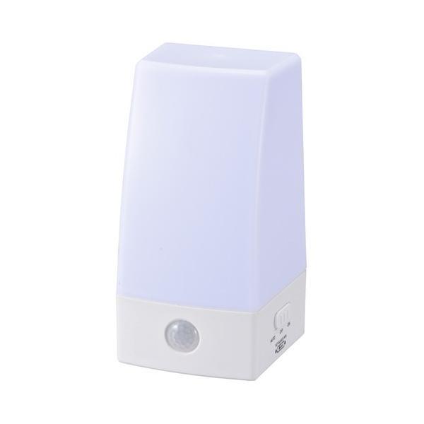 OHM LED人感センサーライト NIT-BLA6JS-WN 06-0132/NIT-BLA6JS-WN