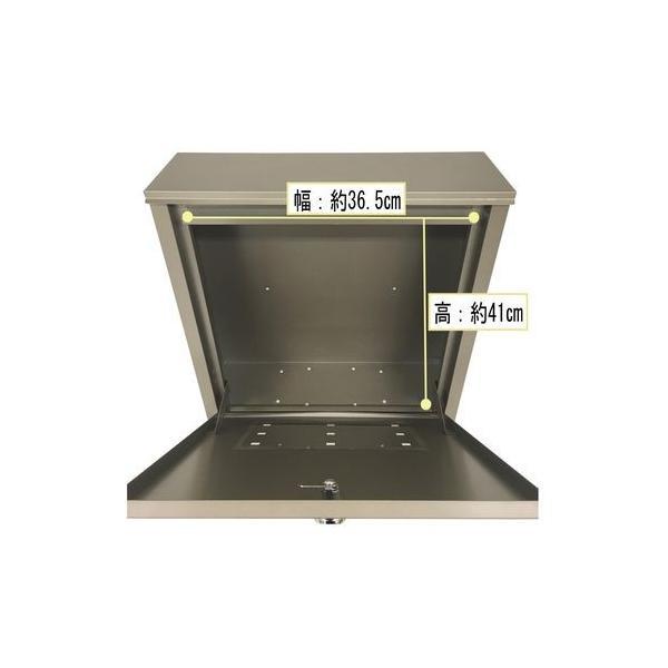 グリーンライフ メール便対応ポスト/FH-75D(TGY) チタングレー/451x161x472mm|dcmonline|09