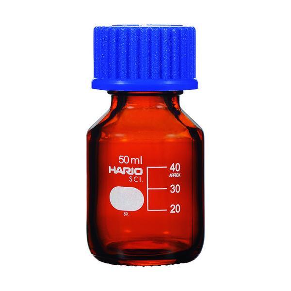 HARIO 耐熱ねじ口瓶(茶) 50ml/NBB-50-SCI