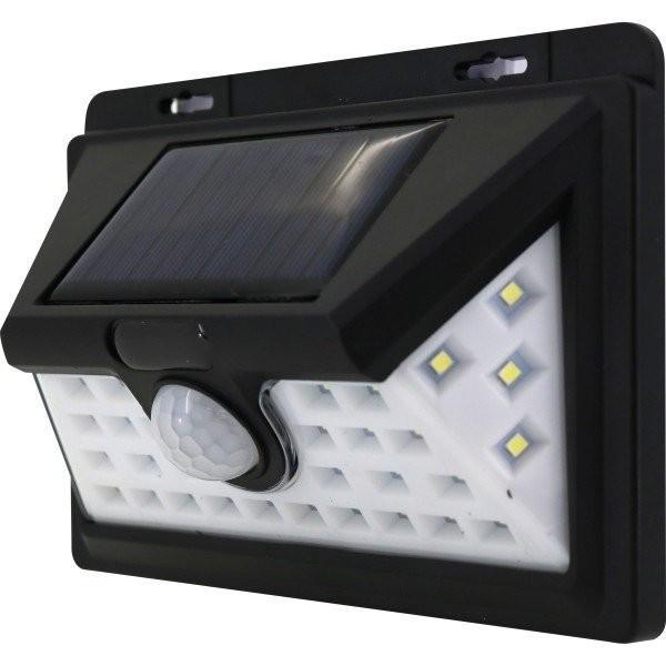 トレードワン モーションセンサー(人感センサー)付照明 ナイトスター ワイドタイプ 34灯 ブラック 30576