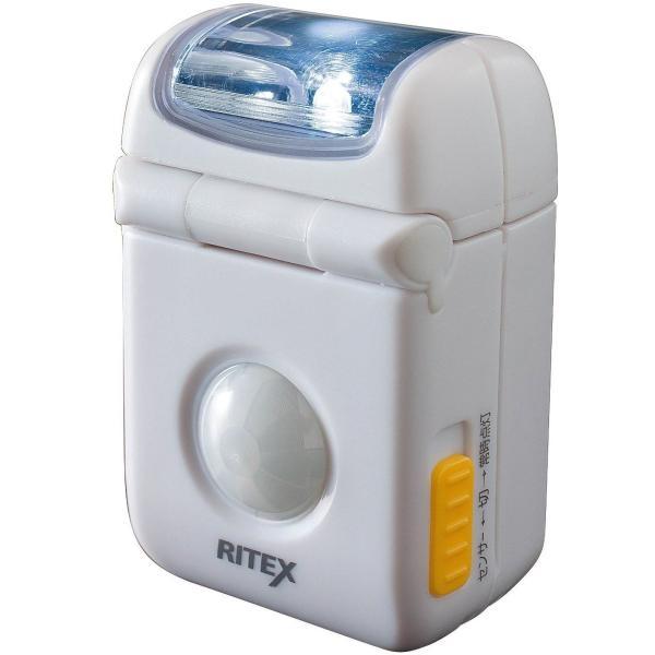 ムサシ RITEX 乾電池式LEDマイクロセンサーライト 防雨型 ASL-010