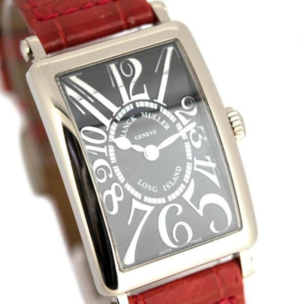 フランクミュラー ロングアイランド 902QZ レリーフ WG製 レディース 腕時計