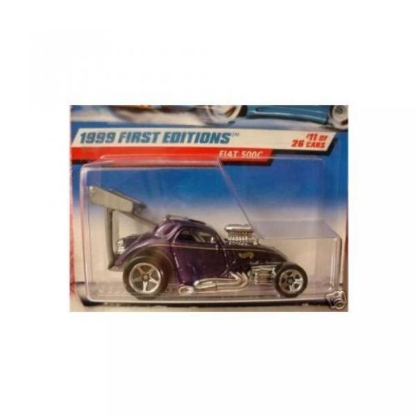 【送料無料】ミニカー Hot Wheels 1999-11 First Editions Fiat 500C Metalflake PURPLE 1:64 Scale 輸入品 dean-store