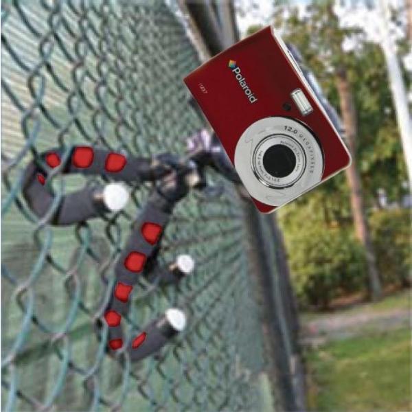 """ポラロイド Polaroid 12"""" Flexible Tripod With Protective Grip-Foam Coating (Red) For Digital Cameras & Camcorders 輸入品"""