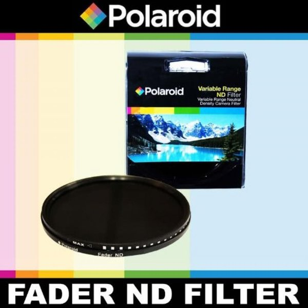 ポラロイド Polaroid Optics Variable Range (ND3, ND6, ND9, ND16, ND32, ND400) Neutral Density (ND) Fader Filter - 6 Filters in 1! For The