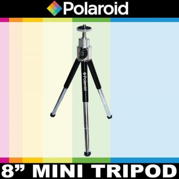 """ポラロイド Polaroid 8"""" Heavy Duty Mini Tripod With Pan Head With Tilt For Digital Cameras & Camcorders For The Canon Digital EOS Rebel"""