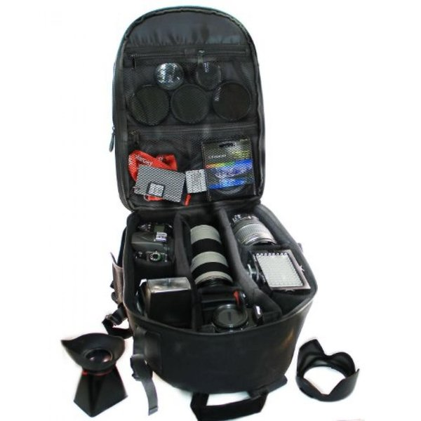 ポラロイド Polaroid Studio Series SLR / DSLR Camera Backpack (Black) For The Panasonic Lumix DMC-G3, DMC-GF3, DMC-G1, DMC-GH1, DMC-GH2,
