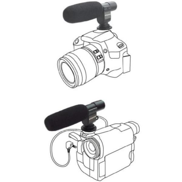 ポラロイド Polaroid Pro Video Condenser Shotgun Microphone For The Canon Digital EOS Rebel T4i (650D), T3i (600D), T1i (500D), T2i