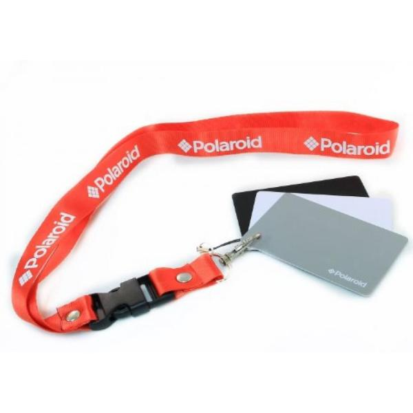 ポラロイド Polaroid Pocket-Sized Digital Grey Card Set With Quick-Release Neck Strap for Digital Photography For The Sony Alpha NEX-C3,