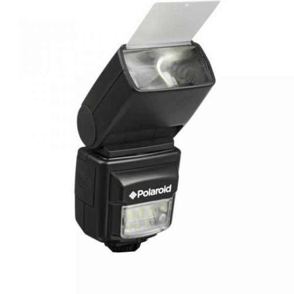"""ポラロイド Polaroid PL-160DOP Studio Series Digital Power Zoom TTL Shoe Mount AF """"Dua"""" Flash With LCD Display + Built In LED Video Light"""