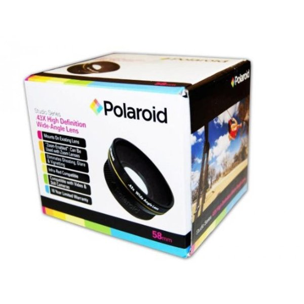 ポラロイド Polaroid Studio Series .43x High Definition Wide Angle Lens With Macro Attachment, Includes Lens Pouch and Cap Covers For The