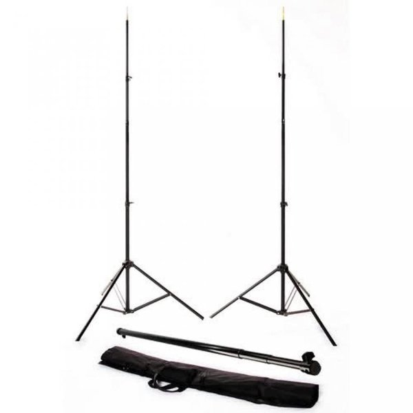 ポラロイド Polaroid Pro Studio Telescopic Background Stand Backdrop Support System Includes Deluxe Carrying Case For The Canon Digital