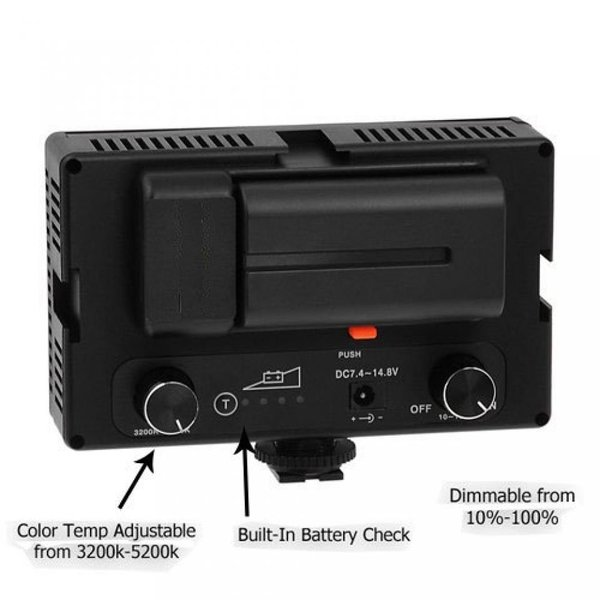 ポラロイド Polaroid 144 Ultra High Powered Super Bright LED Camera / Camcorder Video Light With Variable Color Temp. (3200K-5600K) &