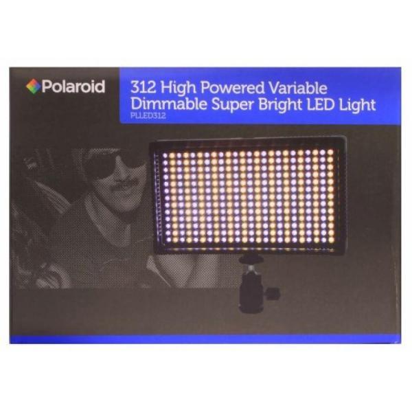 ポラロイド Polaroid 312 Ultra High Powered Super Bright LED Camera / Camcorder Video Light With Variable Color Temp. (3200K-5600K) &
