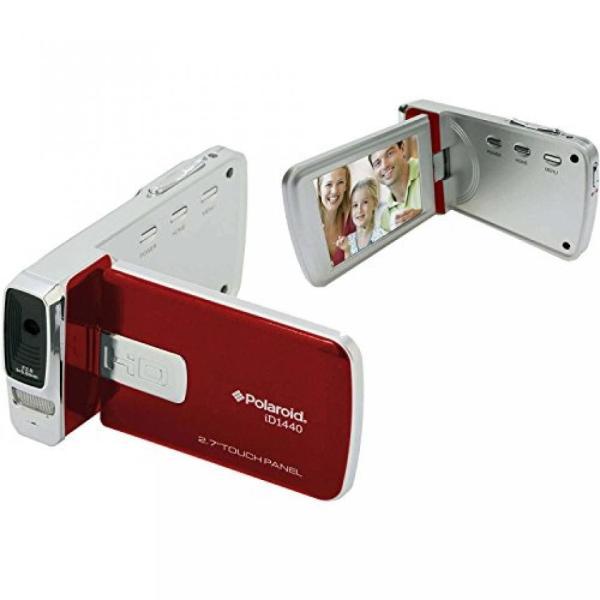 ポラロイド Polaroid ID1440CL-RED-TRU 14MP 4x Zoom Digital Camcorder with 2.7-Inch LCD Screen (Red) 輸入品