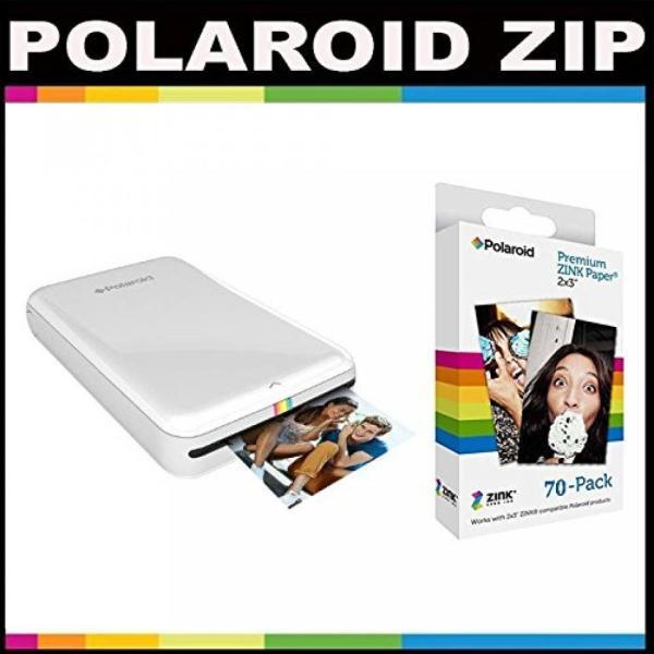 ポラロイド Polaroid ZIP Mobile Printer ZINK Zero Ink Printing Technology - With Polaroid 2x3 inch Premium ZINK Photo Paper (70 Sheets)-