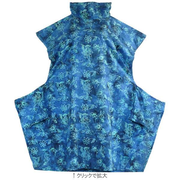 チュニック 半袖 ゆったり 40代 50代 60代 ワンピース レディース ファッション 女性ミセス 春 夏 秋 レーヨン ブルー青系柄A06 母の日 dear-u 04
