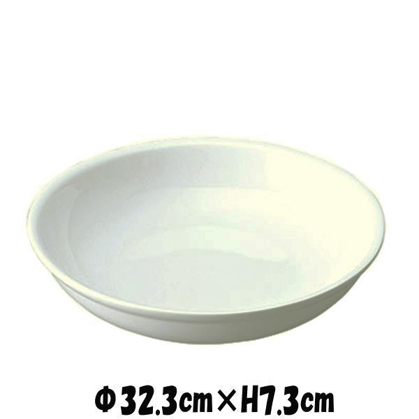 Buffet 32cmボール 白い陶器磁器の食器 おしゃれな業務用洋食器 お皿特大皿深皿|deardishbasara