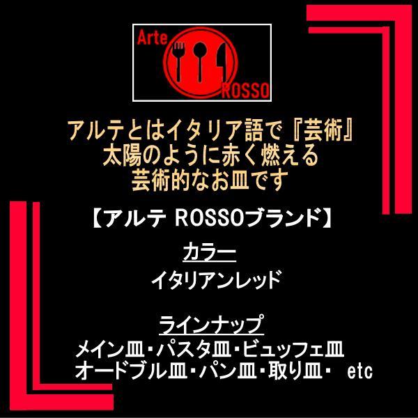 アルテROSSO 11″プレート 赤い陶器磁器の食器 おしゃれな業務用洋食器 お皿大皿平皿|deardishbasara|02