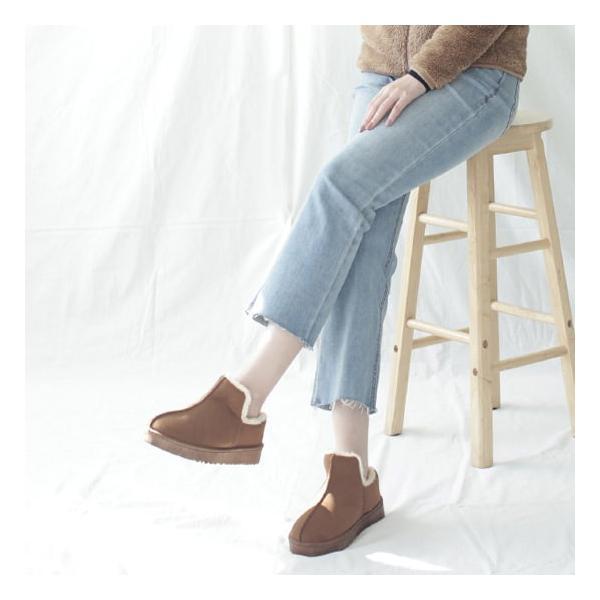 ムートンフラットシューズ レディース ローファー  ファー 黒 ブラック ベージュ ブラウン 靴 婦人靴