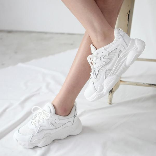 ダッドスニーカー レディース 厚底 ホワイト 婦人靴 シューズ ダッドシューズ