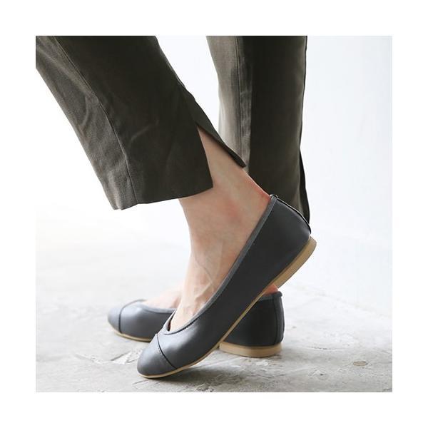 フラットシューズ パンプス バイカラー レディース  バレエシューズぺたんこ ペタンコ 靴 婦人靴 黒 ブラック ベージュ