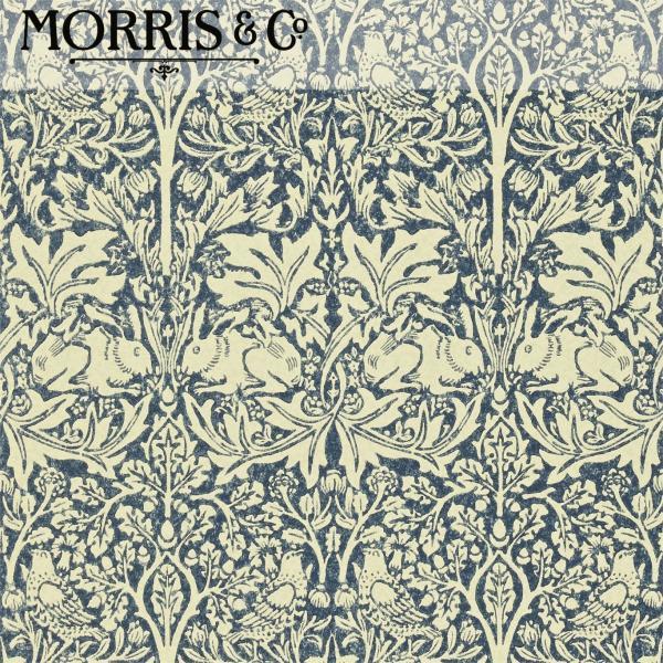 輸入壁紙 ウィリアムモリス ブレアラビット(Brer Rabbit)  ブルー(青)|decoall