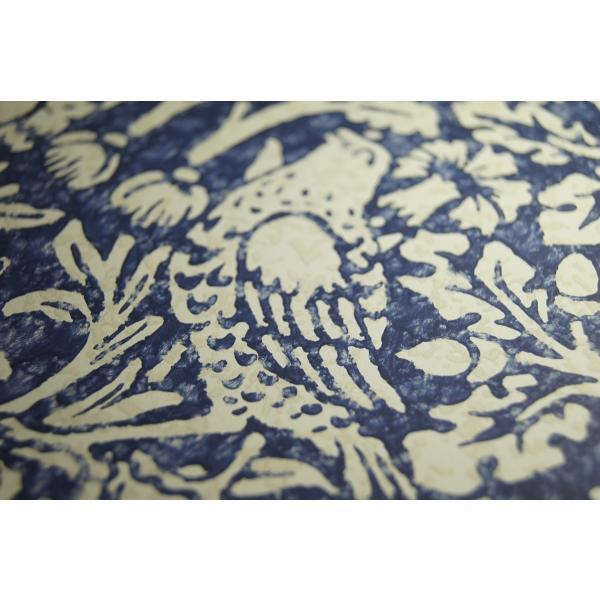 輸入壁紙 ウィリアムモリス ブレアラビット(Brer Rabbit)  ブルー(青)|decoall|02