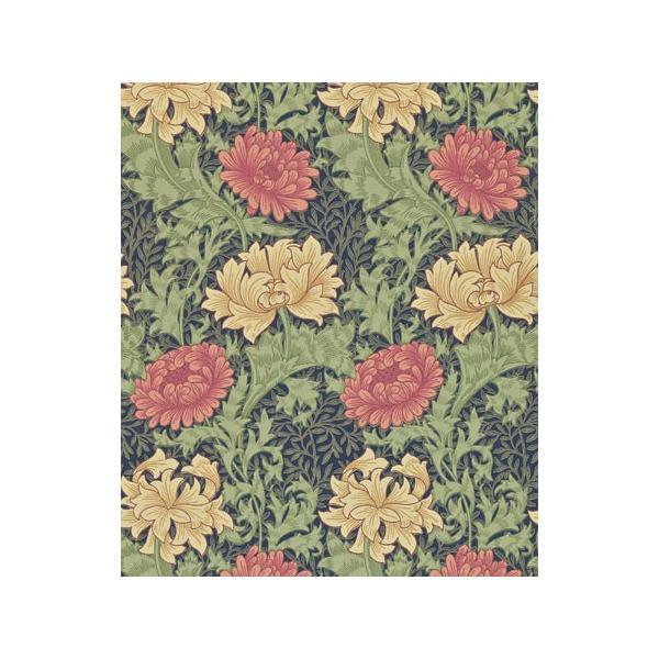 輸入壁紙 ウィリアムモリス クリサンテマム(Chrysanthemum) ネイビー|decoall