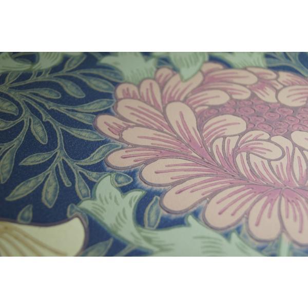 輸入壁紙 ウィリアムモリス クリサンテマム(Chrysanthemum) ネイビー|decoall|02