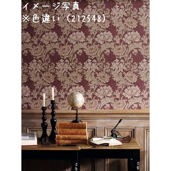 輸入壁紙 ウィリアムモリス クリサンテマム(Chrysanthemum) ネイビー|decoall|03