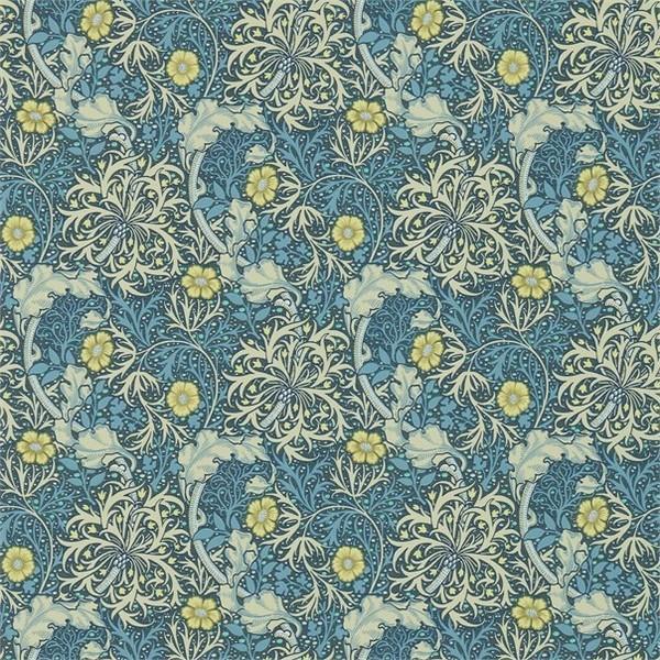 ウィリアムモリス 壁紙 MORRIS SEAWEED ブルー(青) 輸入品|decoall