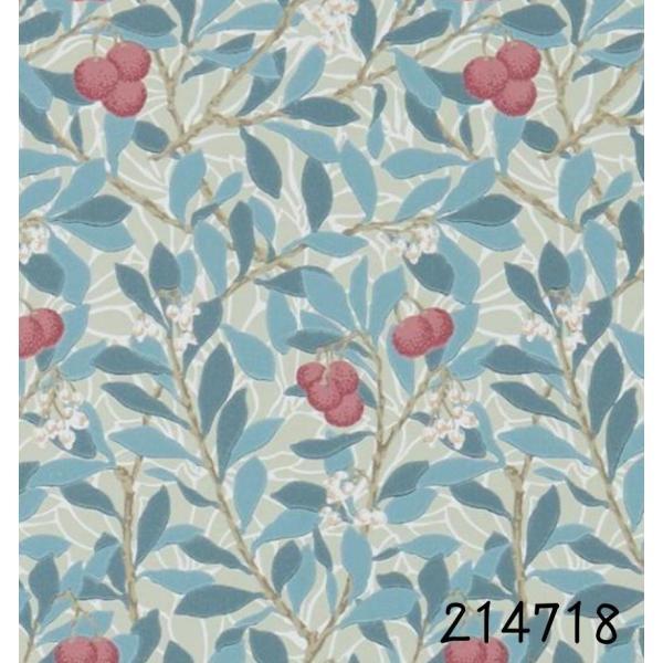 ウィリアムモリス 壁紙 アービュータス(Arbutus)MORRIS  ブルー グリーン 輸入壁紙 イギリス製 シノワズリ 草、木、果物柄   decoall 02
