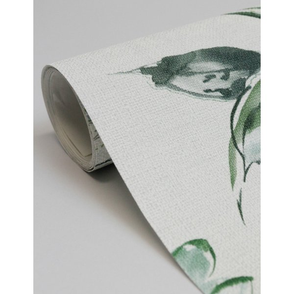 輸入壁紙  ESPOIR NEW AGE  国内在庫 219452 花 葉 墨絵 水彩画 白 緑 モダン CASAMANCE テシード DIY  decoall 04