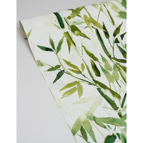 輸入壁紙  ESPOIR NEW AGE  国内在庫 219462 竹 水彩画 緑 アジアンテイスト CASAMANCE テシード DIY  decoall 03