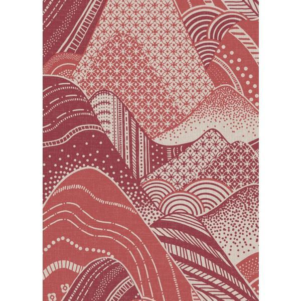 輸入壁紙  ESPOIR NEW AGE  国内在庫 2764-24332 レッド 赤 波模様 和柄 和モダン ふすま BREWSTER テシード DIY |decoall