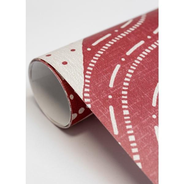 輸入壁紙  ESPOIR NEW AGE  国内在庫 2764-24332 レッド 赤 波模様 和柄 和モダン ふすま BREWSTER テシード DIY |decoall|04