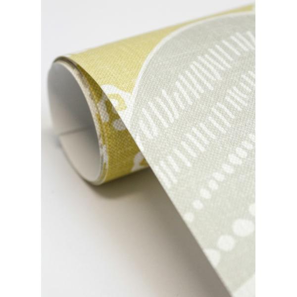 輸入壁紙  ESPOIR NEW AGE  国内在庫 2764-24334 イエローグリーン 波模様 和柄 和モダン ふすま BREWSTER テシード DIY |decoall|04