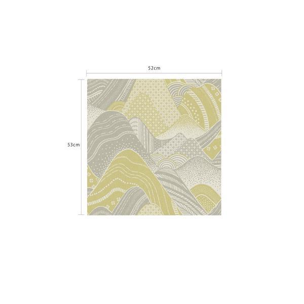 輸入壁紙  ESPOIR NEW AGE  国内在庫 2764-24334 イエローグリーン 波模様 和柄 和モダン ふすま BREWSTER テシード DIY |decoall|05